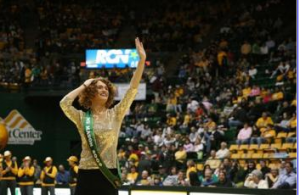 Large portions of the crowd cheered as Allen, wearing a gold-sequined top, accepted the tiara and the Ms. Mason 2009 sash